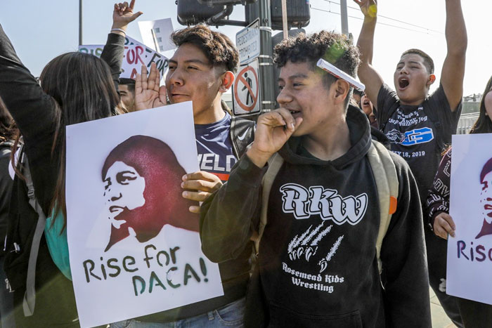 Students marching for DACA