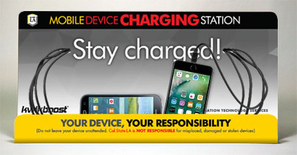 Charge your mobile device at a Kwikboost charging station