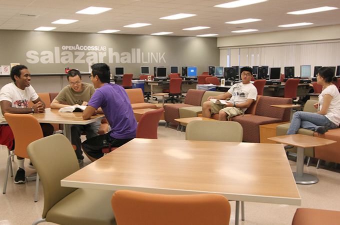 Salazar Hall Link lounge area