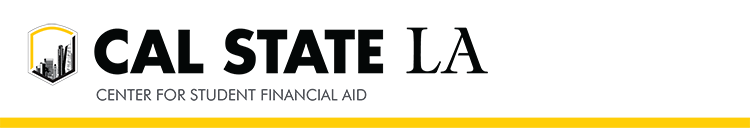 CAL STATE LA, Center for Student Financial Aid banner