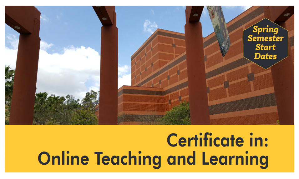 Certificate in Online Teaching and Learning