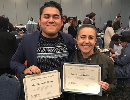EDFN student Oscar Gil Rodriguez received an outstanding oral research presentation award.
