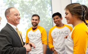 President Covino and SHAC