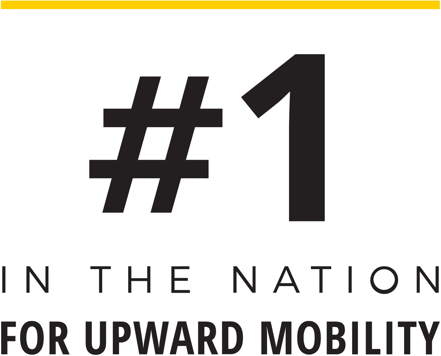 Number one in the nation for upward mobility