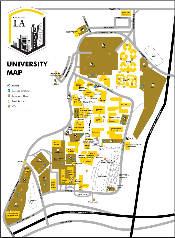 Campus Map Cal State La