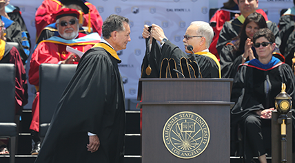 Honorary Doctorate recipient George Pla
