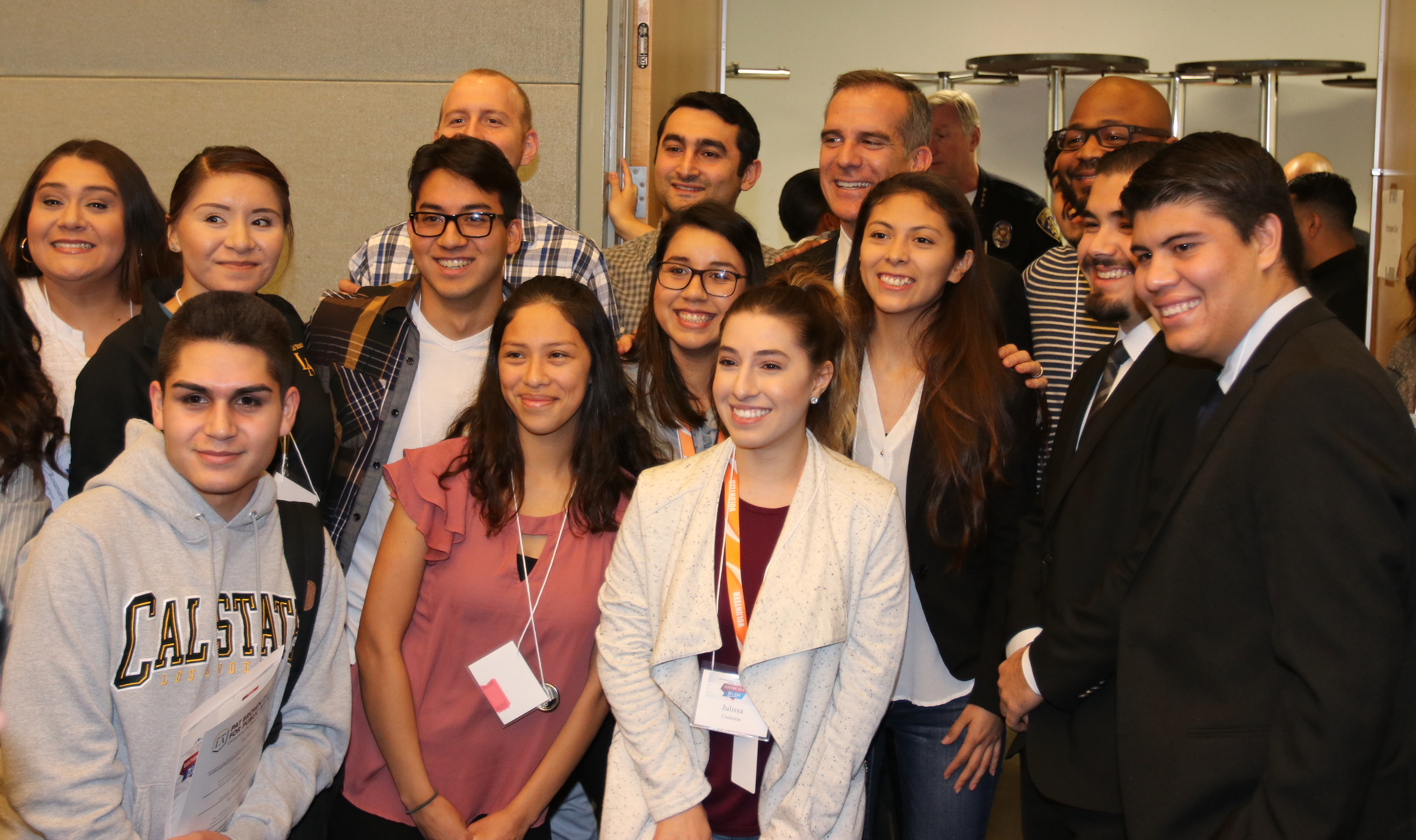 Mayor Garcetti with students