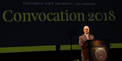 President Covino speaks at Convocation 2018