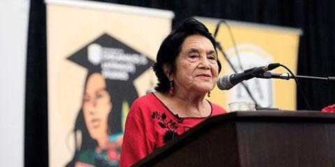 Dolores Huerta speaks at Chicana/o Studies celebration