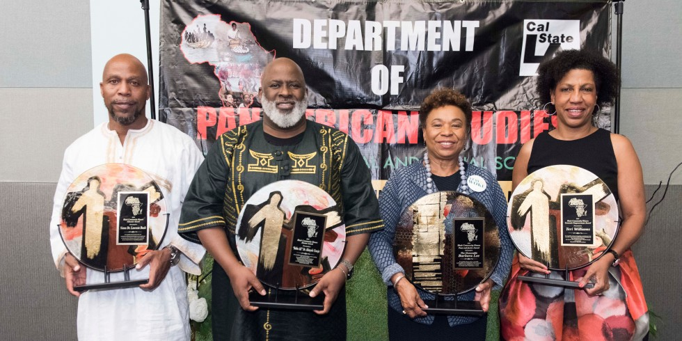 Four faculty members hold awards at the Pan-African Studies Honors Dinner