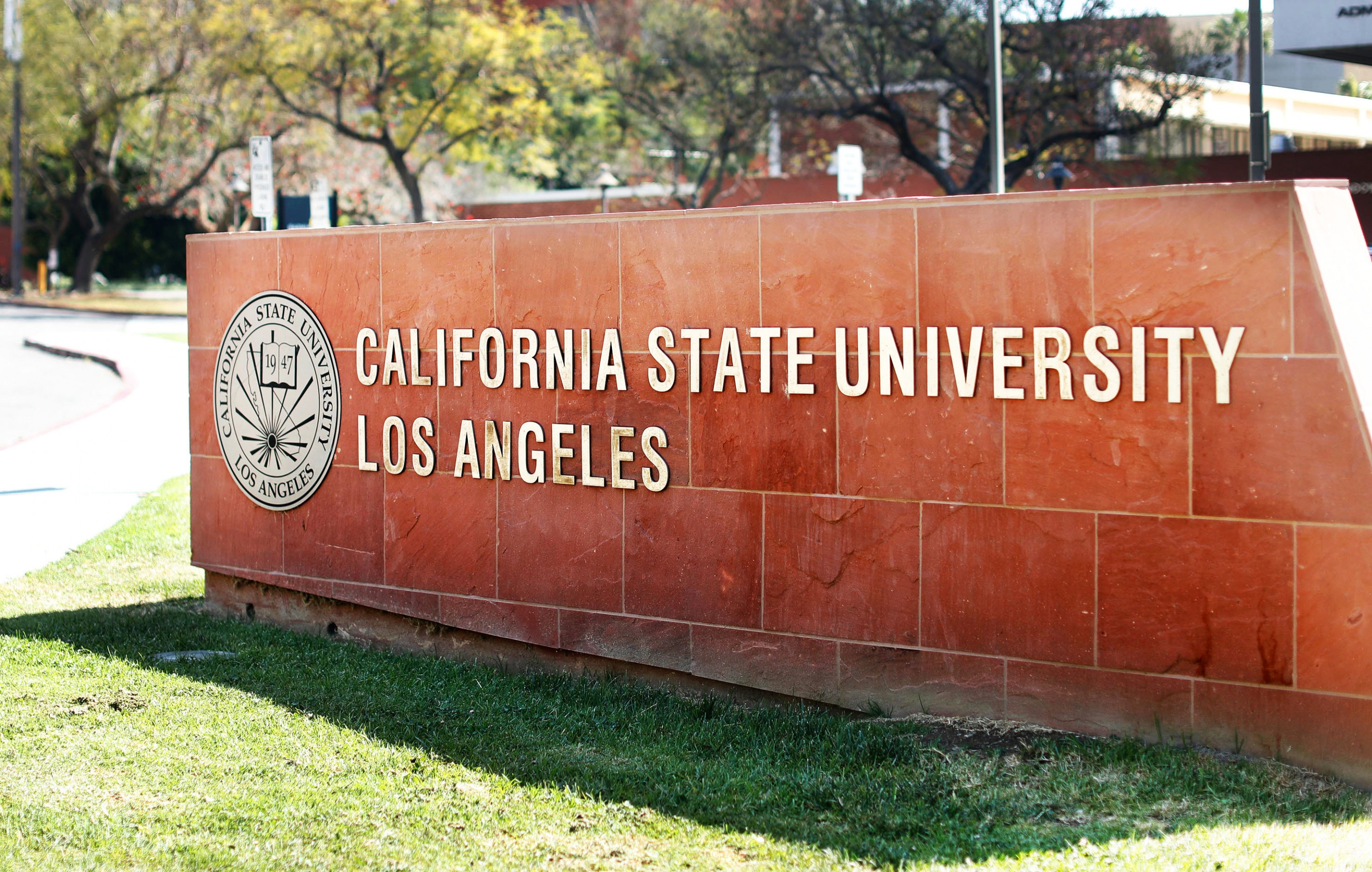 Cal State LA entry sign