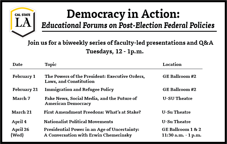 Democracy in Action Events List