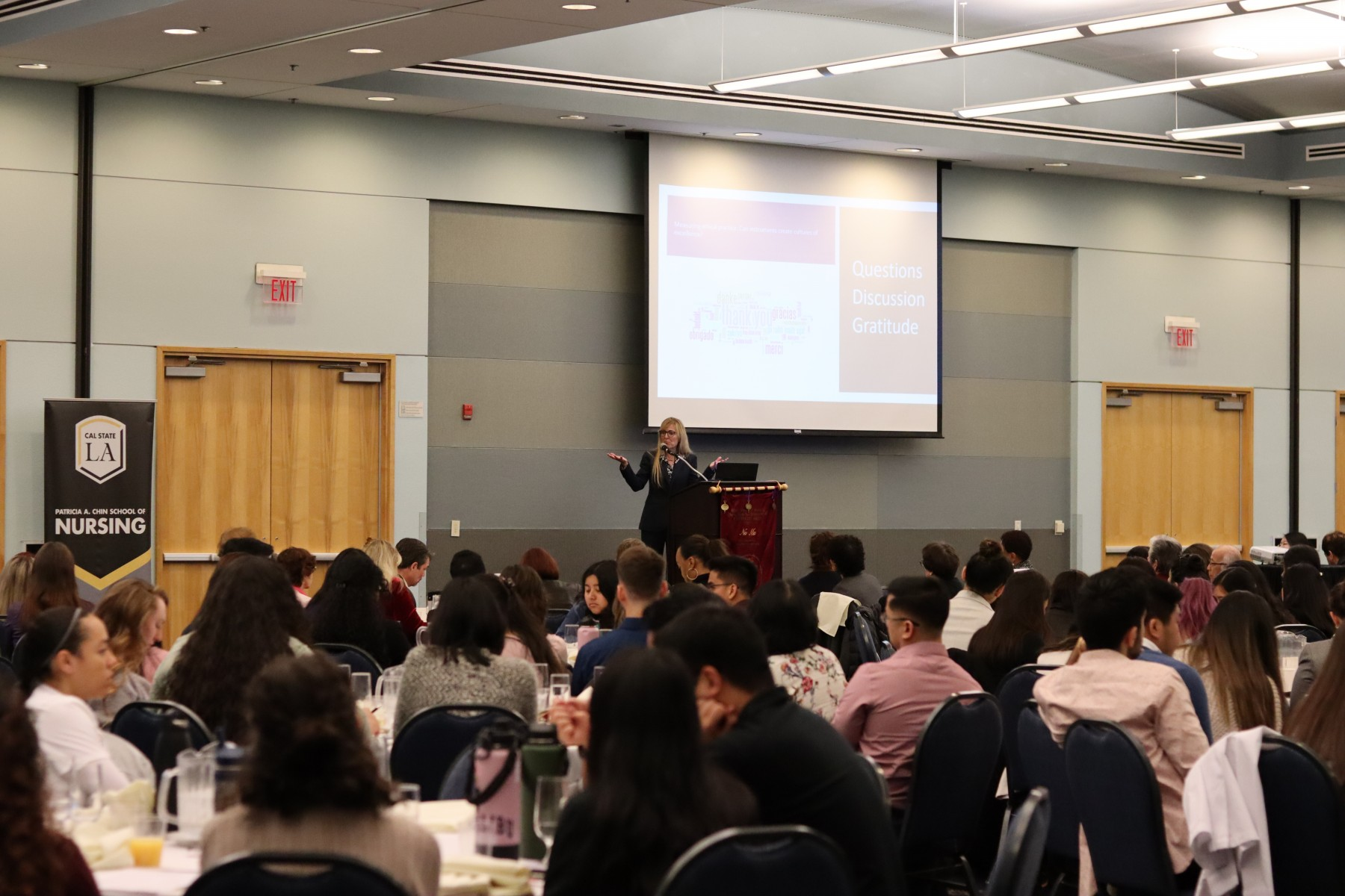 Heather Fitzegerald speaking at the 14th annual evidence-based practice nursing forum