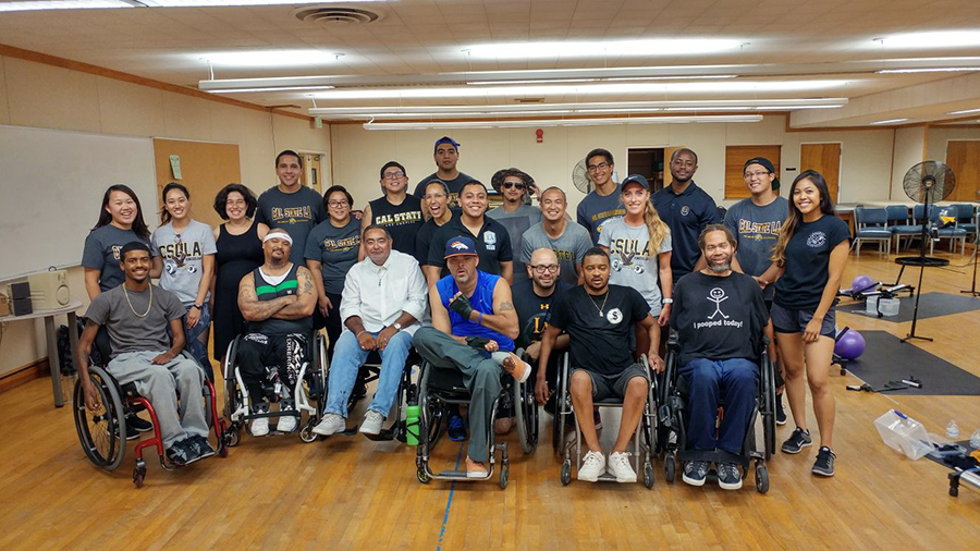 Over the summer, 20 dedicated KNS students led an intense but fun exercise class for some amazing individuals. All 8 people in the class had spinal cord injuries and were wheelchair users. The KNS students were asked to develop exercises for improving strength and cardiovascular fitness