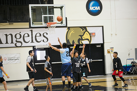 KNS hosted the LAUSD Special Olympics Unified Basketball tournament
