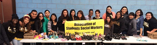 Photo of ASSW Students at Homeless Event
