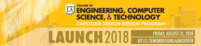 capstone senior design program launch 2018 banner