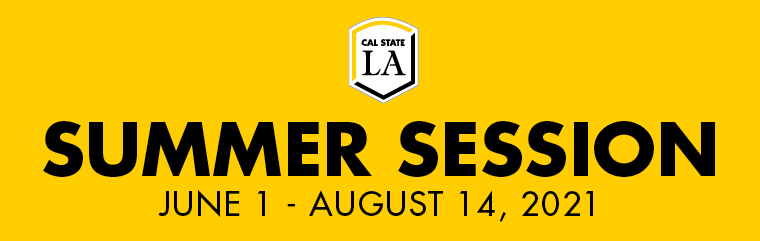Yellow background. Summer Session is June 1 - August 14, 2021