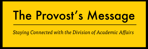 The Provost's Message title
