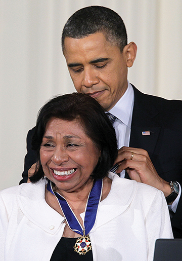 Mendez was awarded the Presidential Medal of Freedom in 2011. (Photo courtesy of Getty Images)