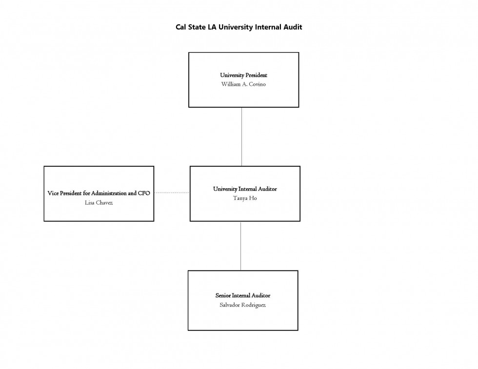 Cal State LA University Internal Audit Org Chart