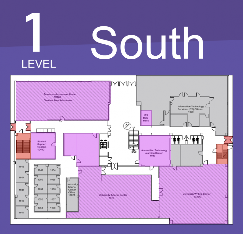 Level 1 North Map