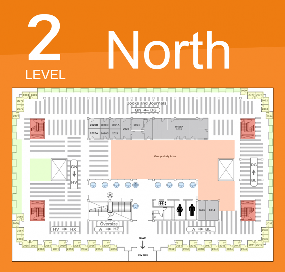Level 2 North Map