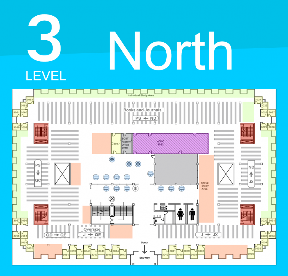 Level 3 North Map