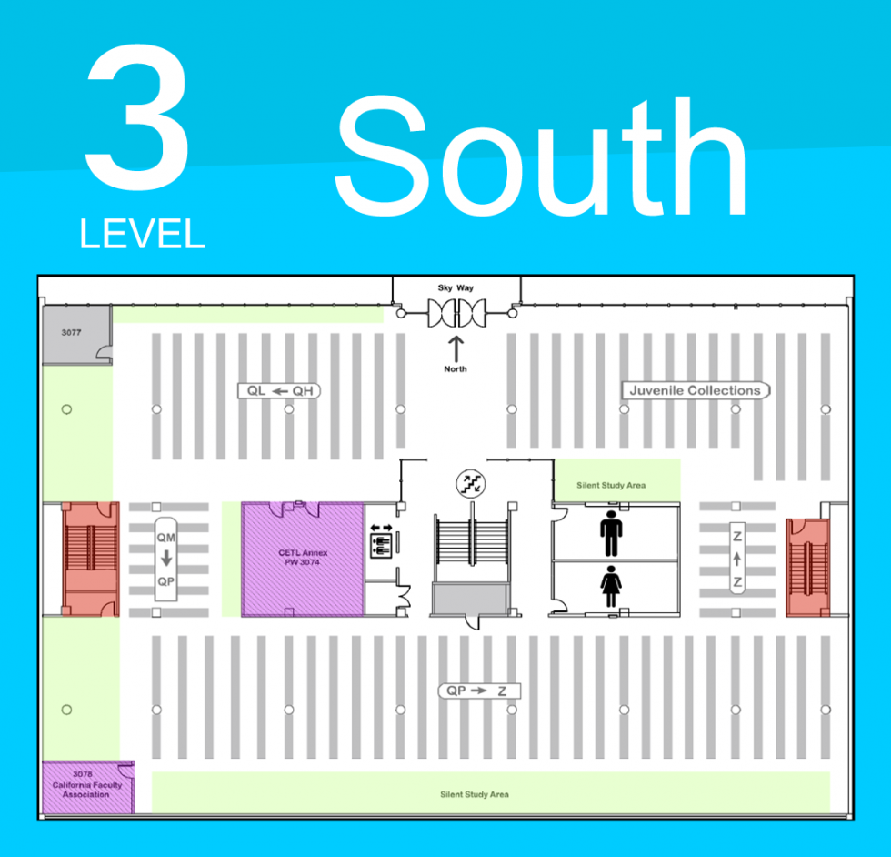 Level 3 South Map