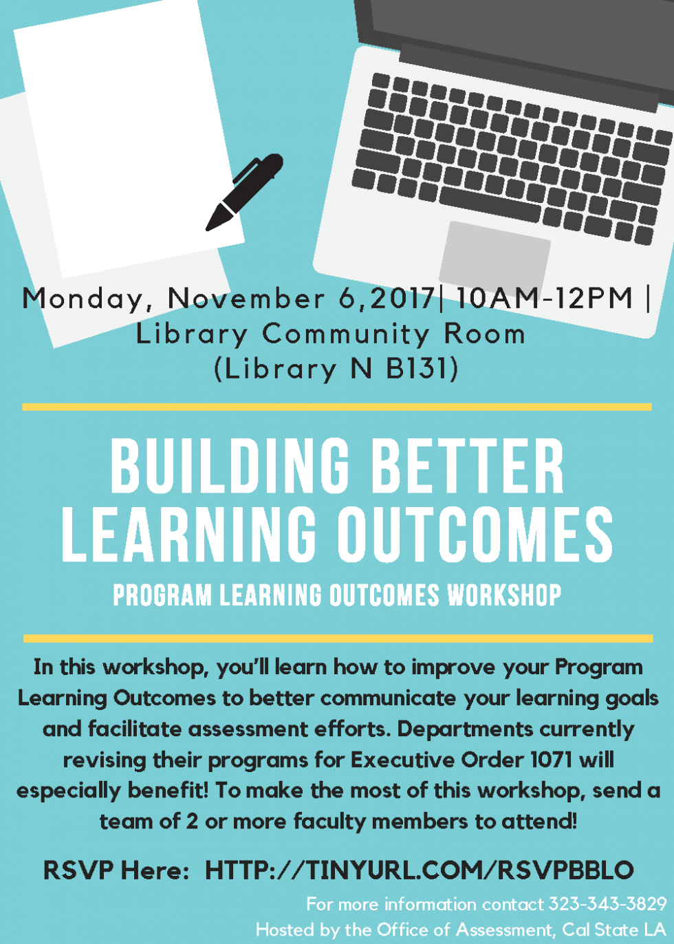Flyer for Building Better Learning Outcomes