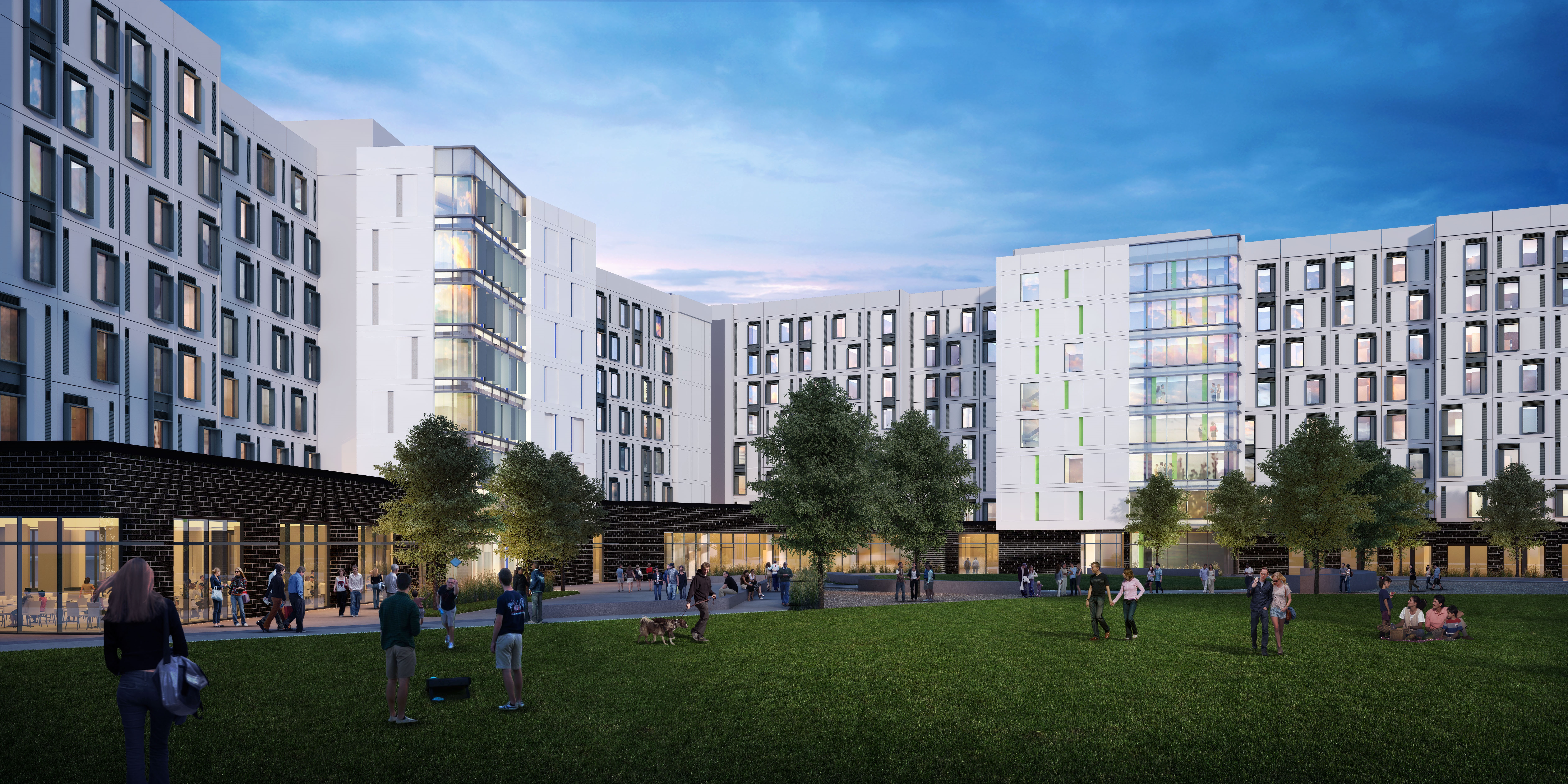 Rendering of new student housing facility