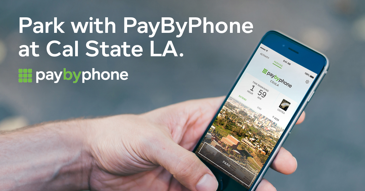 Park with PayByPhone at Cal State LA