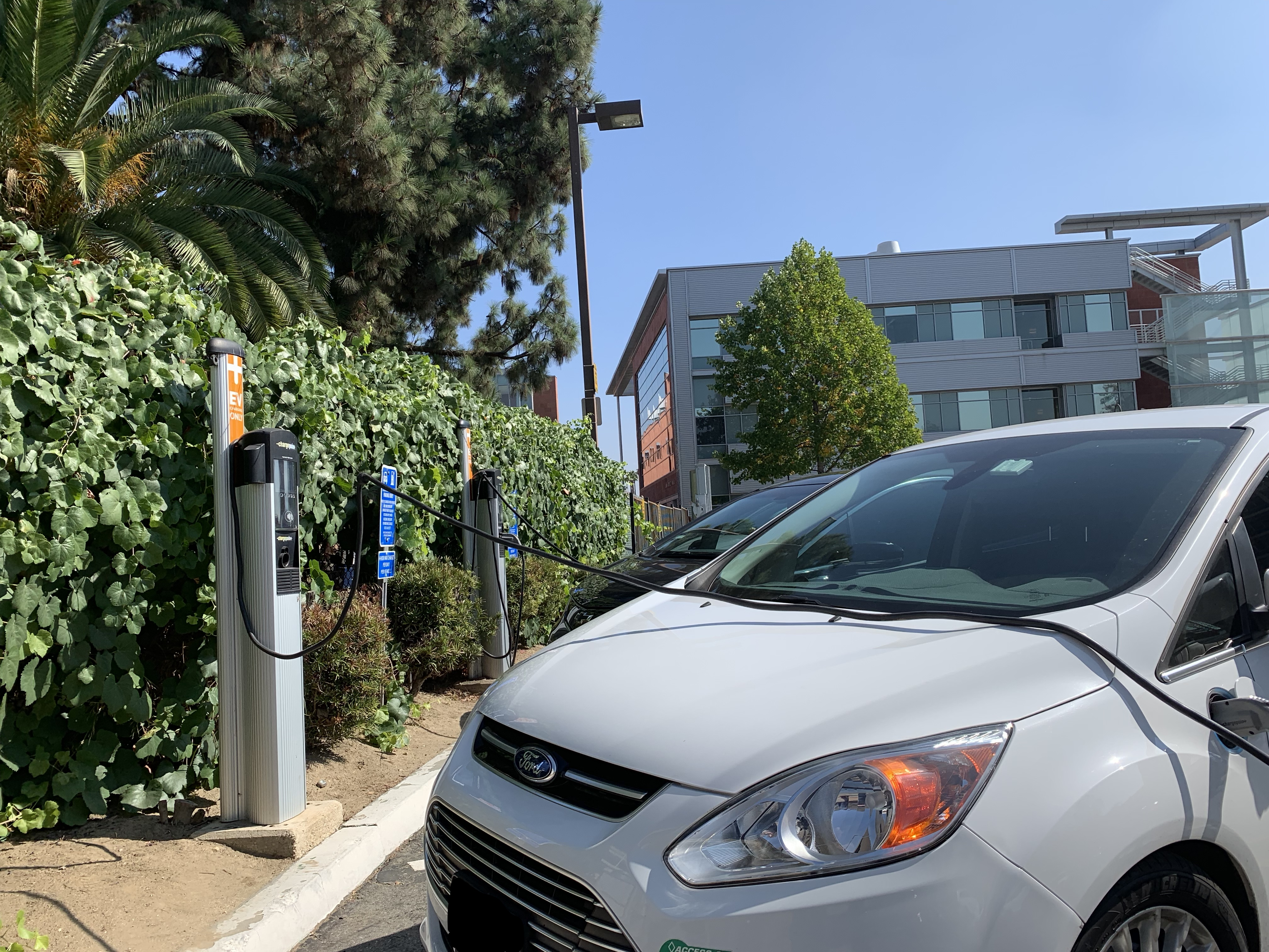 Cal State LA Electric Vehicle Charging Stations in Lot 3