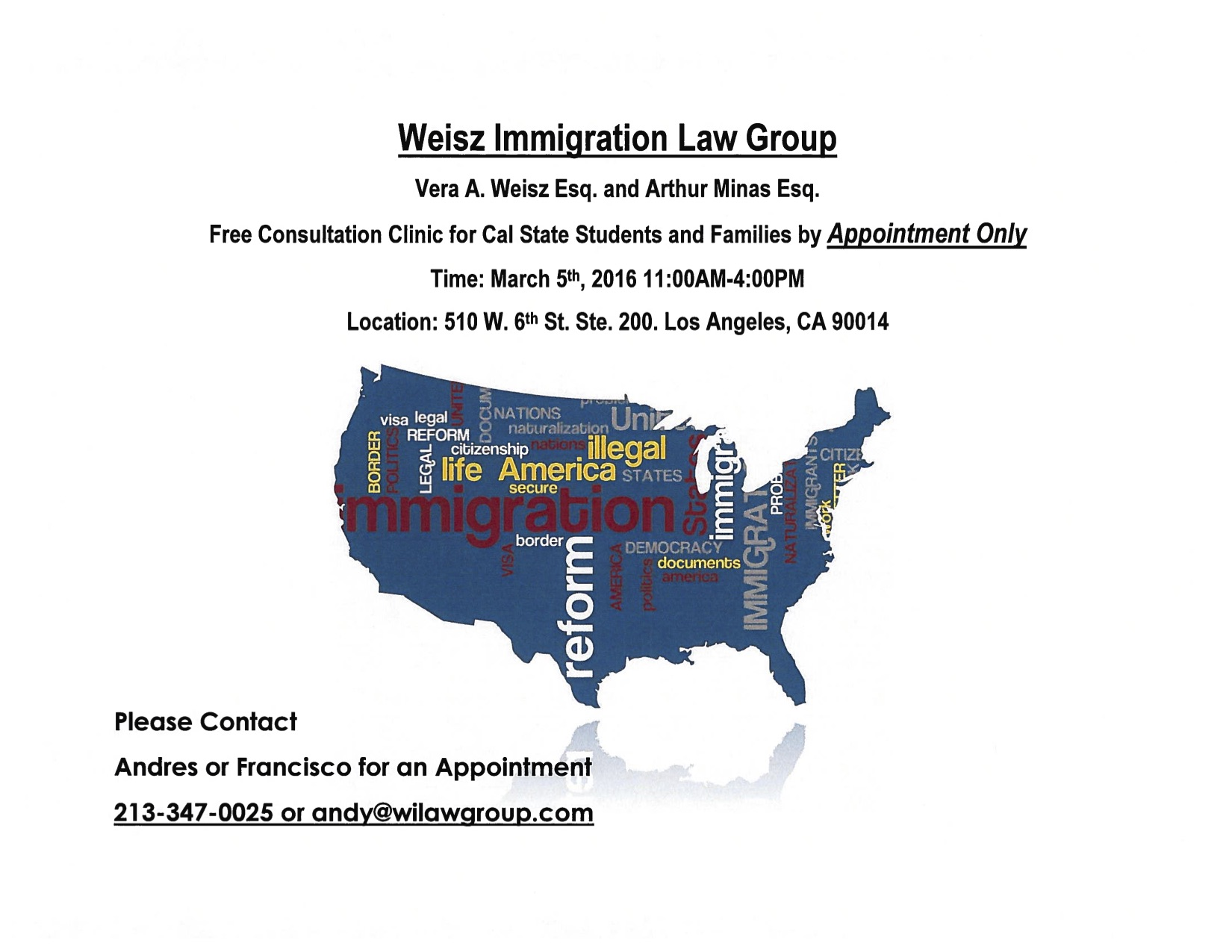 Immigration Consultation for Cal State LA students and their families