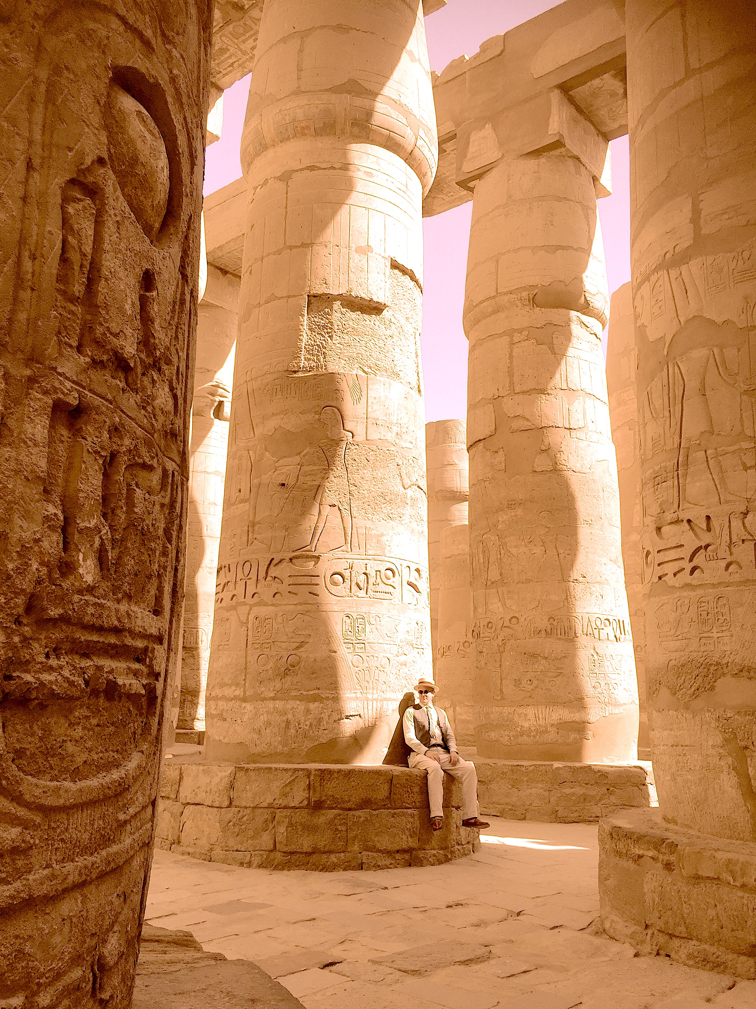Dr. Doran in Egypt, at Luxor.