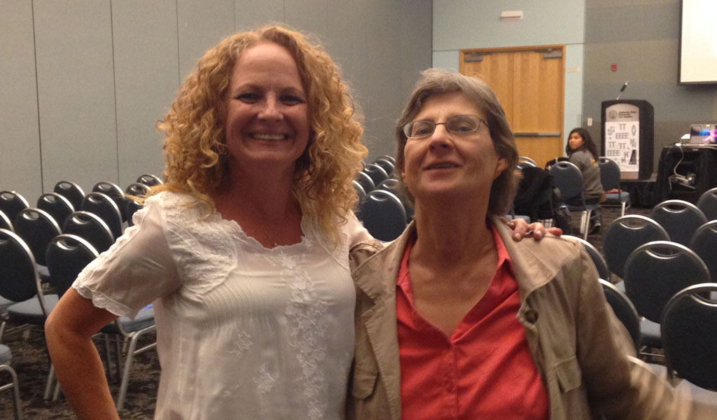 Statement author Tylene Devine with Professor Mary Bush