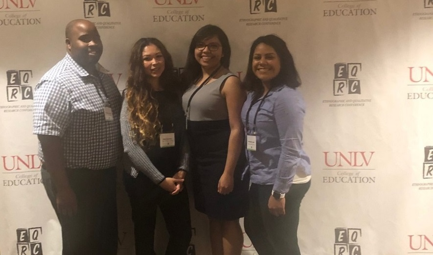 Manson Johnson, Doris Guzman, Veronica Pedroza, and Samantha Lopez at the Ethnographic and Qualitative Research Conference