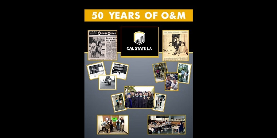Poster of the 50th Anniversary Celebration of the CCOE Orientation & Mobility Program