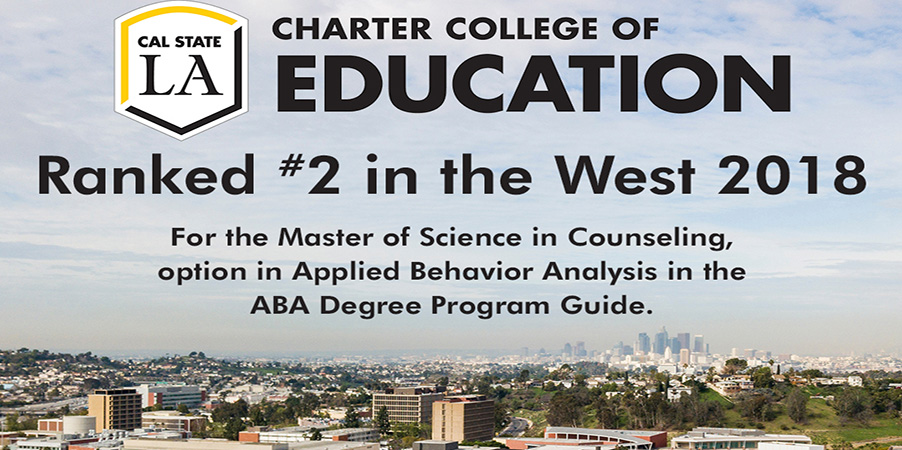 CCOE Master of Science in Counseling program ranked #2 in the West