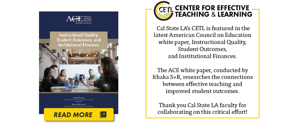 CETL recognized in ACE white paper.