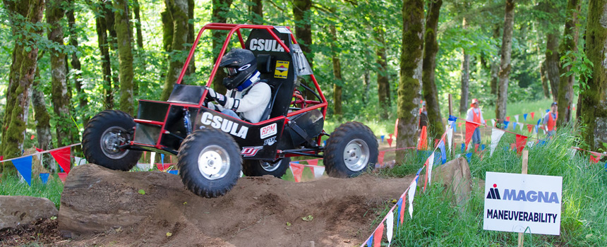 Cal State L.A's Baja SAE Team in action at the Baja SAE Oregon Competition