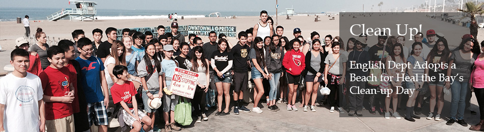 Students Participate in Beach Clean-up