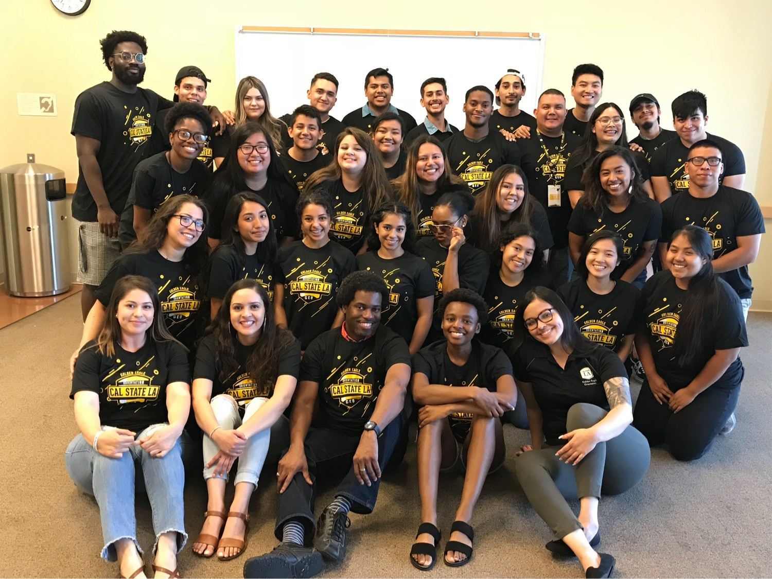 Photo of the summer 2018 Orientation Leader team with full time staff