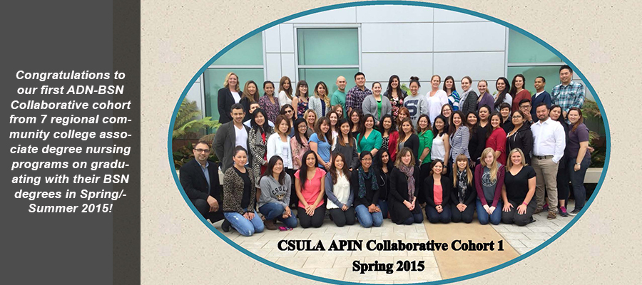 Congratulations to our first ADN-BSN Collaborative cohort ... graduating with their BSN degrees in Spring/Summer 2015!