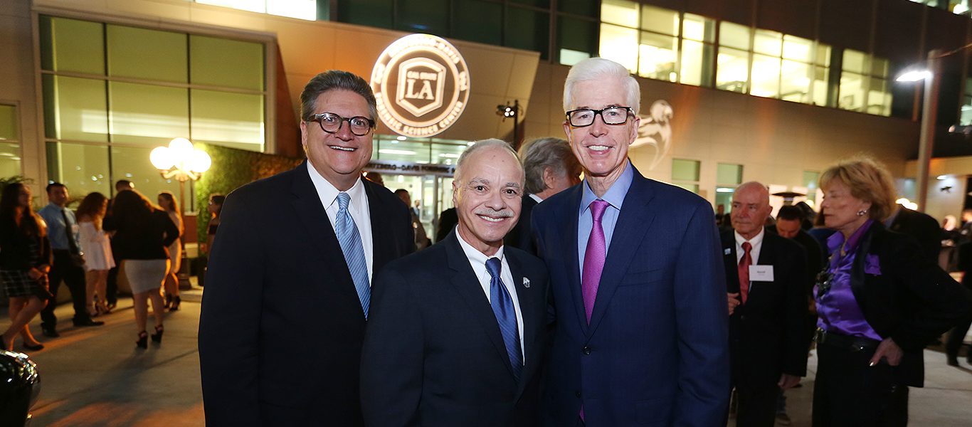 "Cal State LA University Pres William A. Covino, former Gov of Ca, Gray Davis. Sen Robert ""Bob"" Hertzberg HDFSC 10th year Anniver"