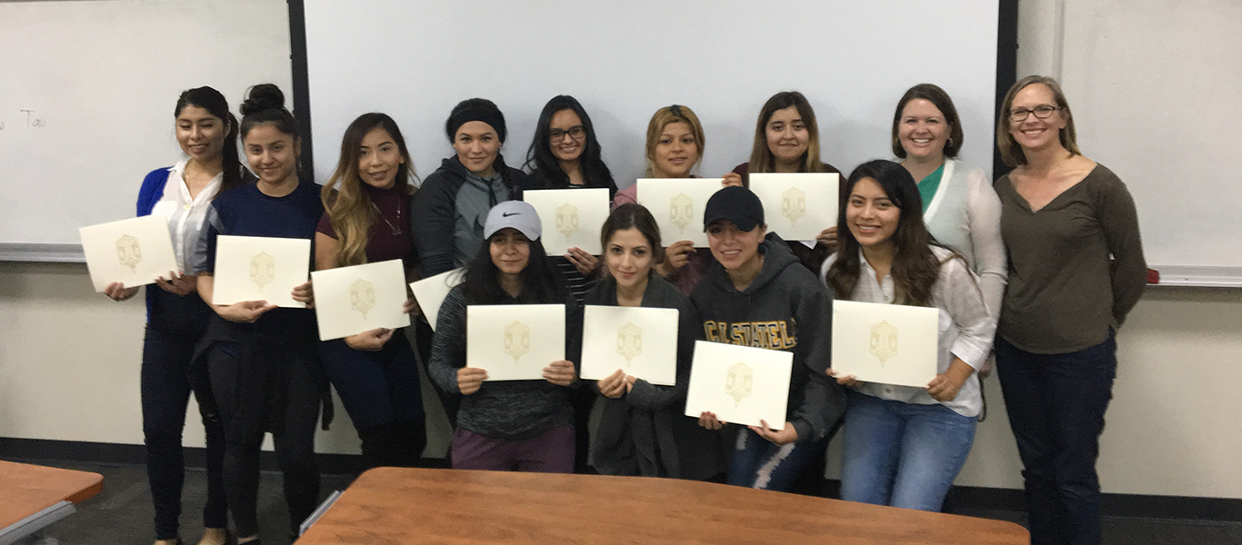 Alpha Phi Sigma students with Professor Smolter and Dr. Gauthier
