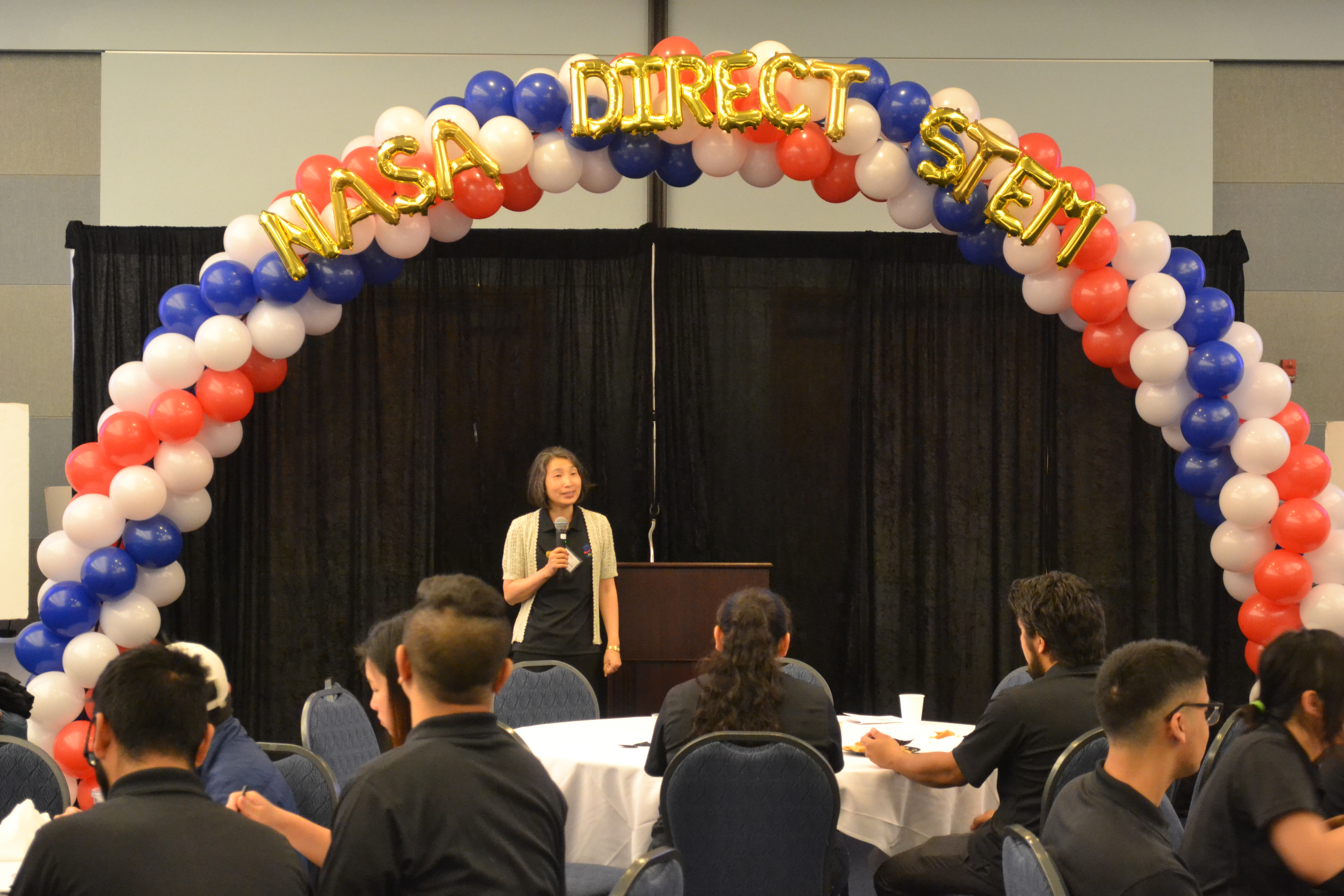 Dr. Hengchun Ye speaking at the 4th Annual NASA DIRECT-STEM Research Symposium