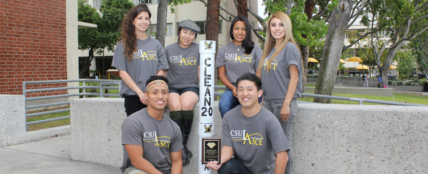 Cal State L.A's Enviromental team headed by Dr. G. Menezes takes 2nd place in the Pacific Southwest Conference hosted by ASCE