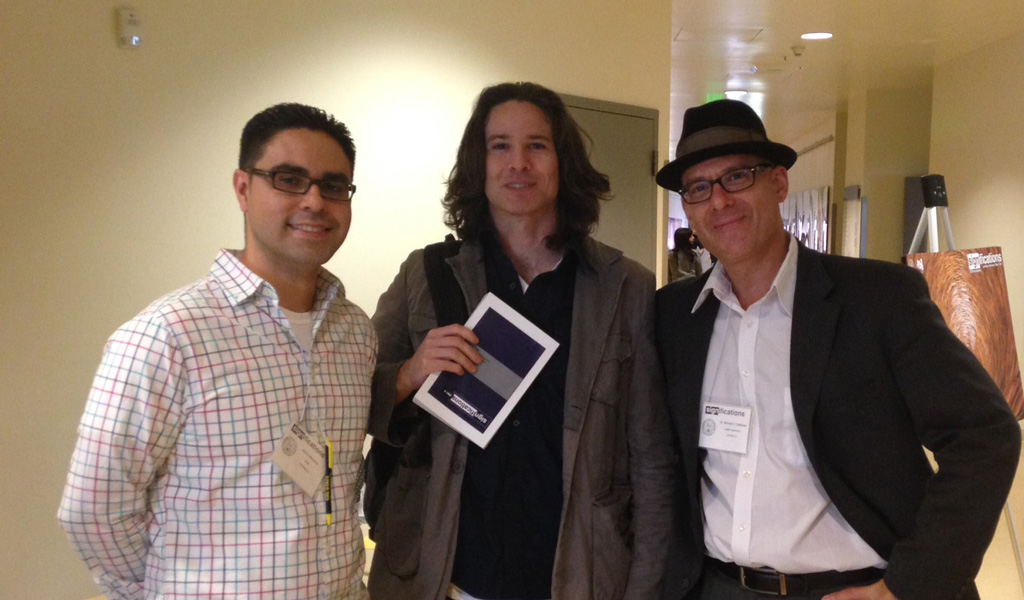 Taking a Break: Graduate Students Juan Mendoza and Scott Ross with Professor Michael Calabrese