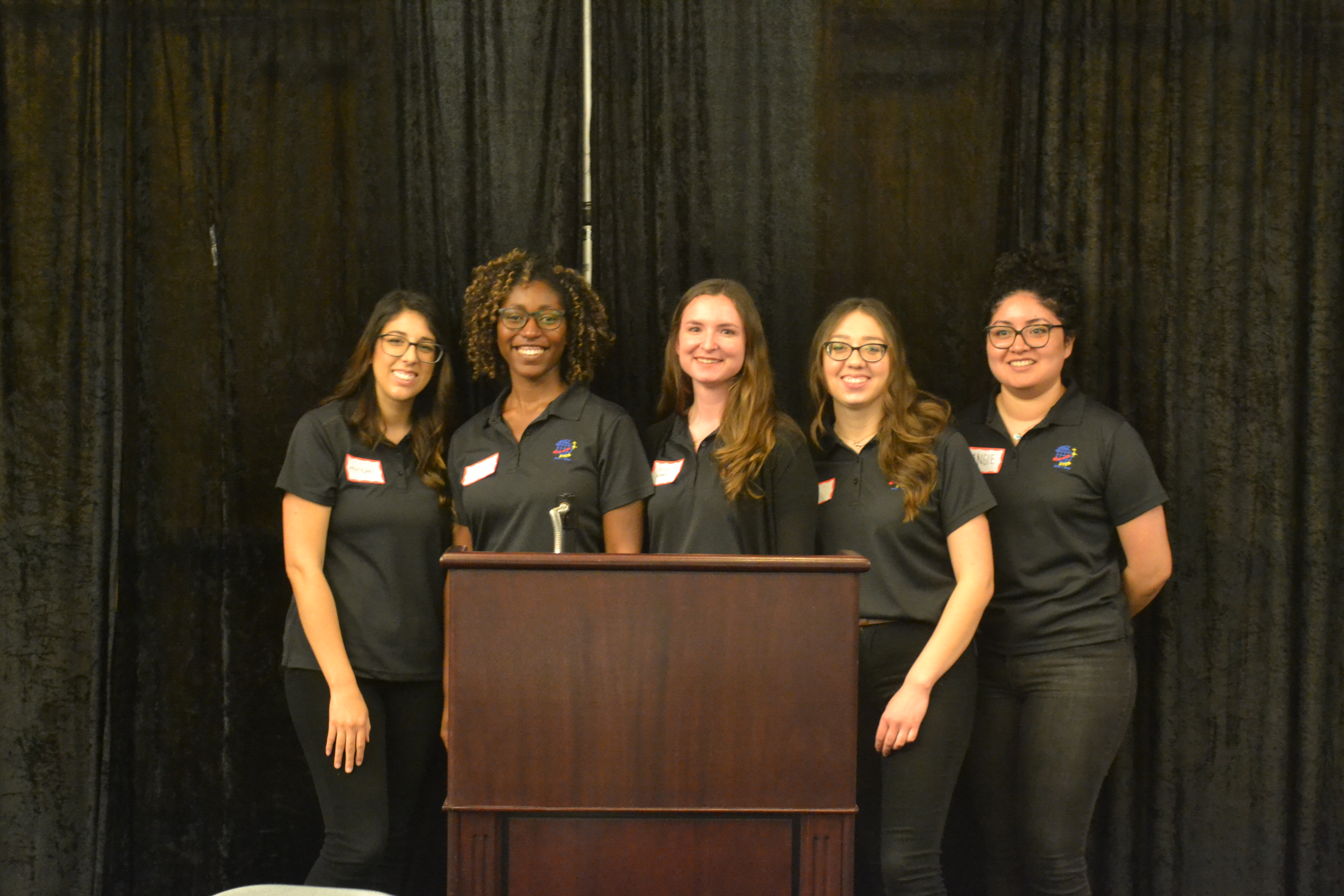 From left: Mariam Ayad, Sara Johnson, Jessica Kromer, Chelsy Salas and Angelica Enriquez